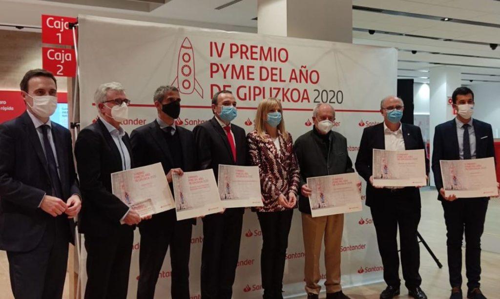 Todos en el premio Santander